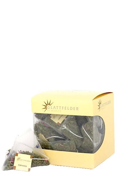 Pyramiden Kräutertee mit 2% Edelweiss Bio Tee