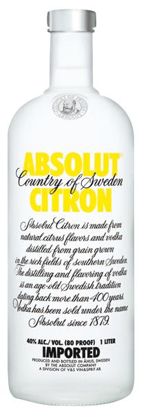 Absolut Vodka Citron 40°