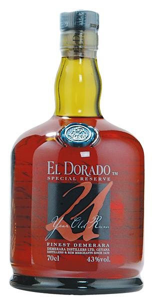 El Dorado Rum 21 years 43°