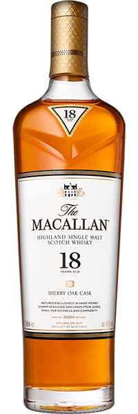 Macallan 18 years Sherry Oak  43°