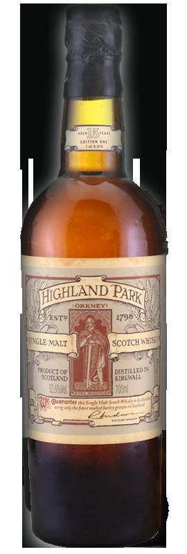 "Highland Park ""Earl Magnus"" 15 years 52.6°"